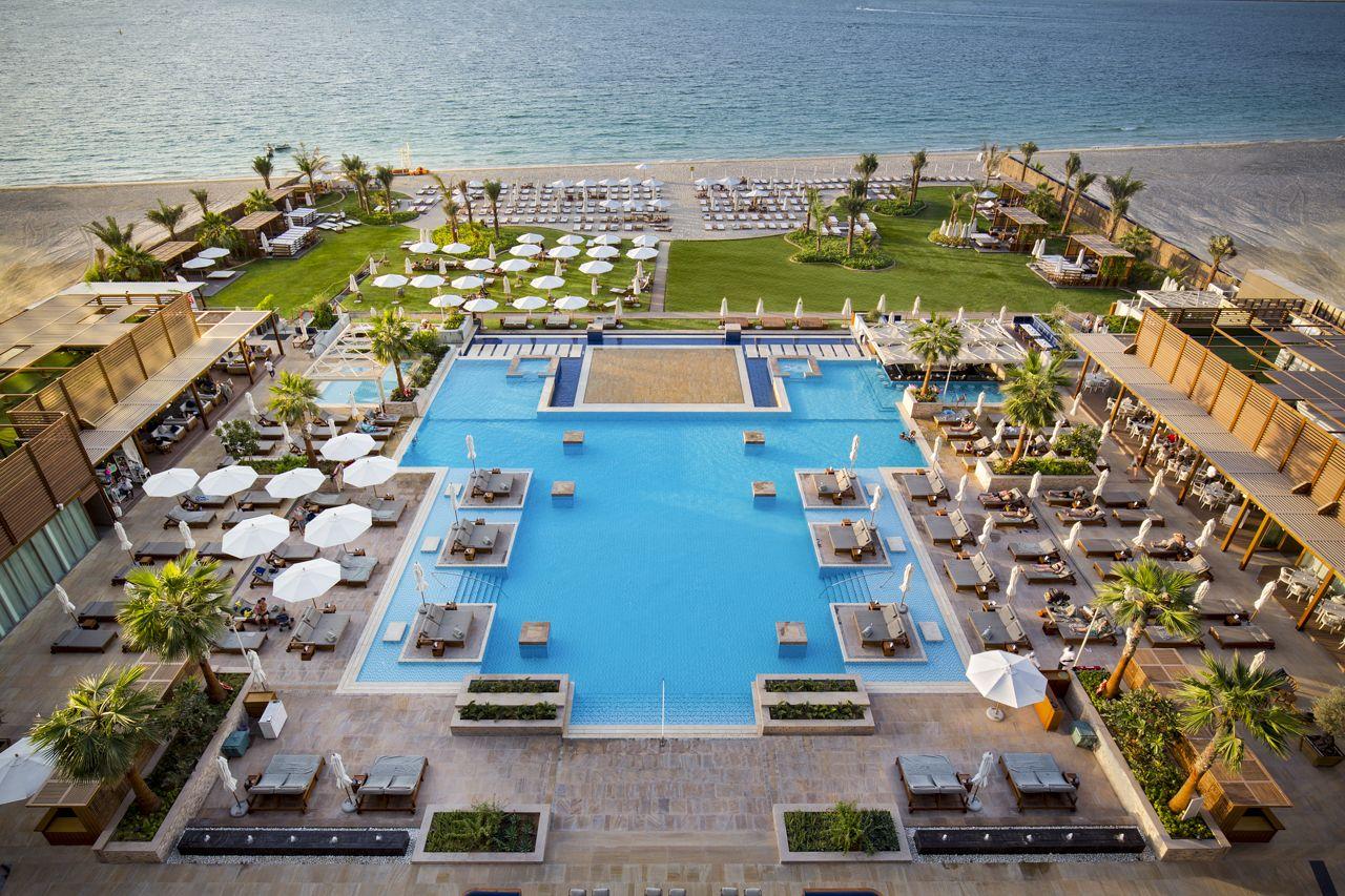 Rixos Premium Dubai Azure Beach Relaxing Pool Dubai Hotel Luxury Hotel Offers