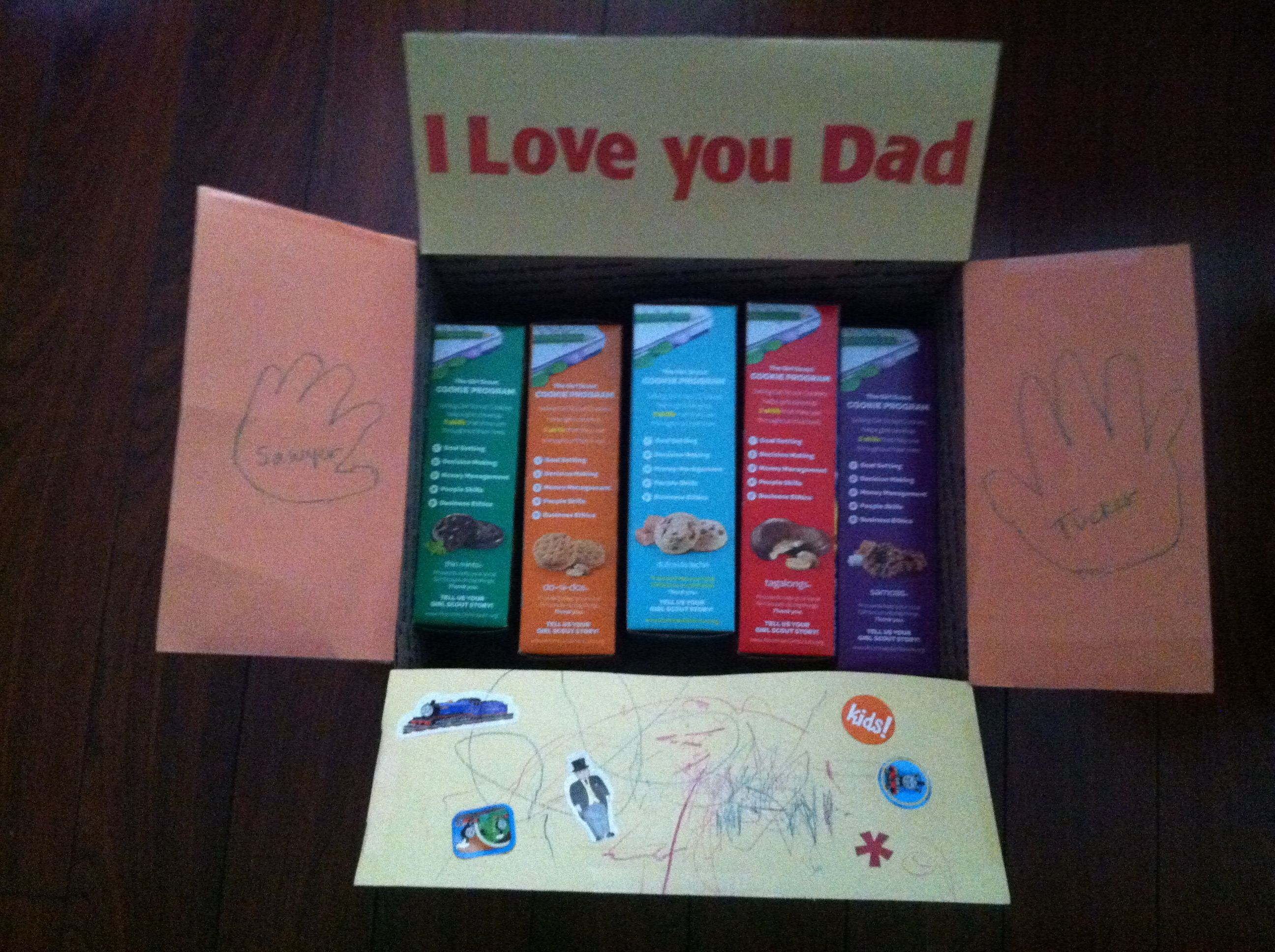 Care package from the kids. Care package, Love you dad