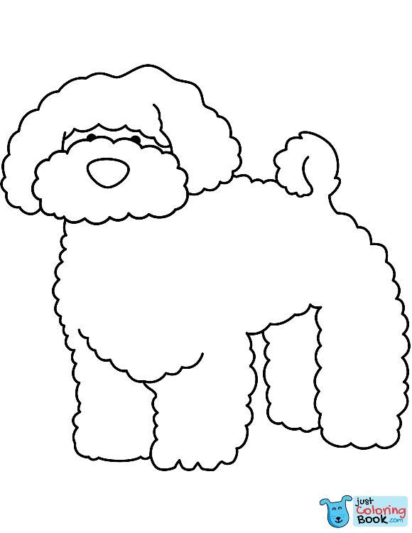 Funny Bichon Coloring Page Free Printable Coloring Pages Inside Free Printable Bichon Frise Coloring Pages