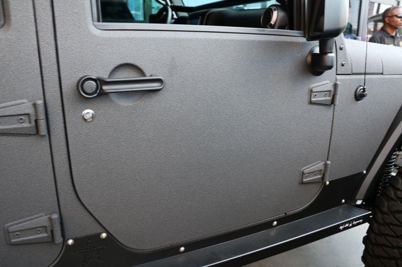 Jeep ジープ Jkラングラー Line X全塗装カスタム ドア Black Rhino アルミホイールデモカー ジープ Jk 車両 ジープ