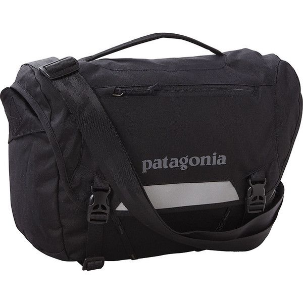Patagonia Mini Messenger Bagsssenger (110 NZD) ❤ liked on Polyvore featuring bags, messenger bags, black, tablet messenger bag, patagonia, mini zip bags, patagonia bags and tablet bag