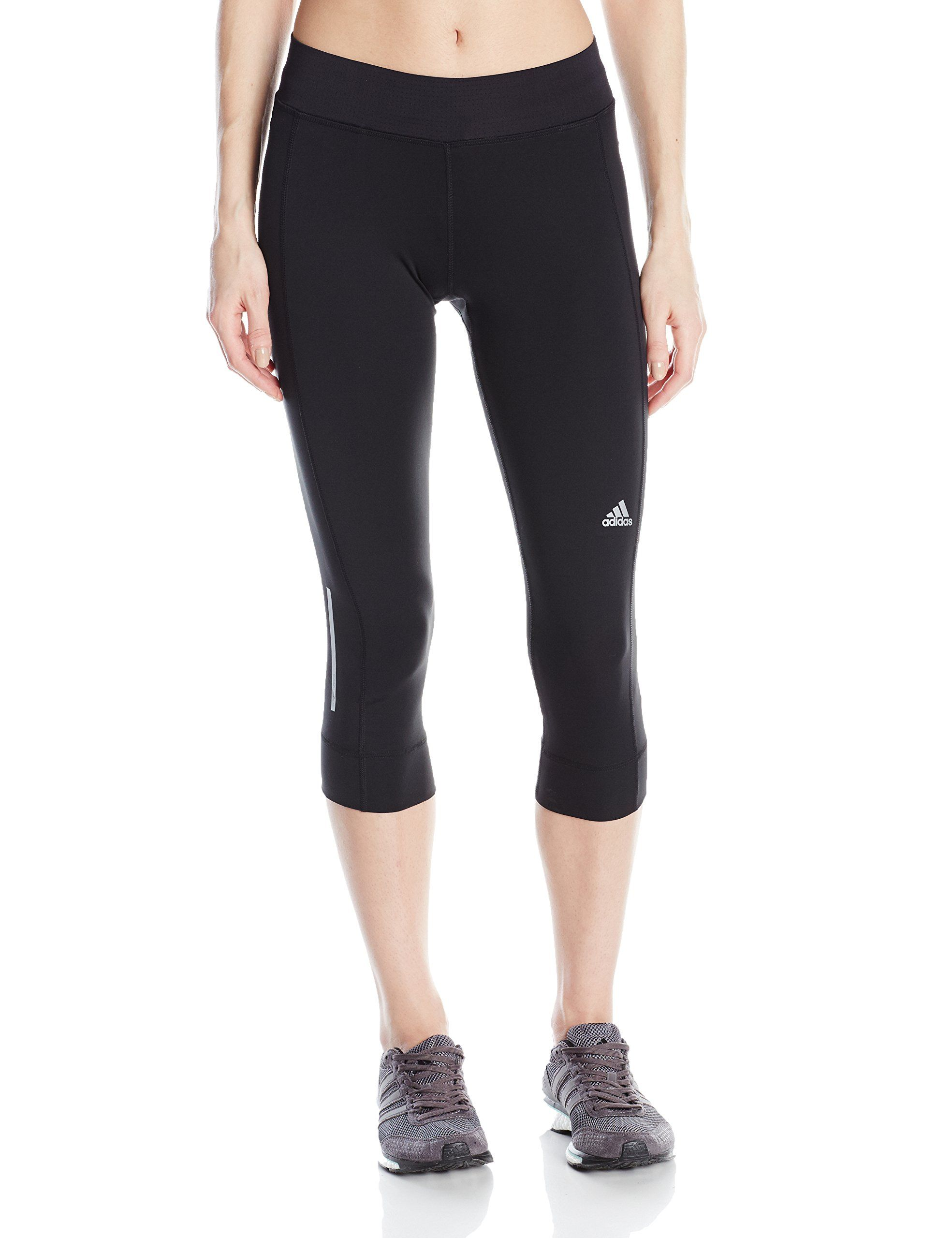 b56833e6b84c8 adidas Performance Women's Sequencials Three-Quarter Tights, Black, X-Small