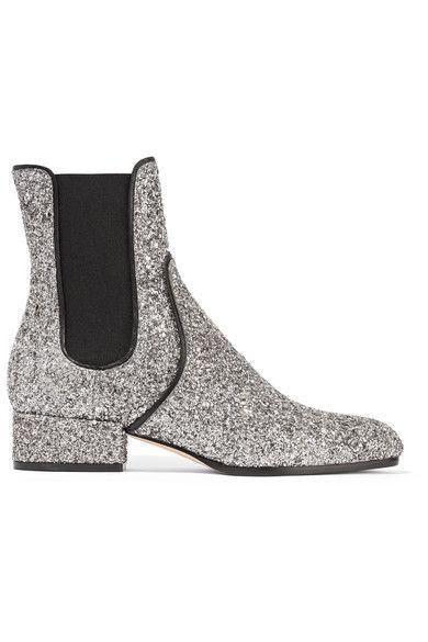 e8184c7a9da JIMMY CHOO Monty glittered-leather Chelsea boots.  jimmychoo  shoes  boots