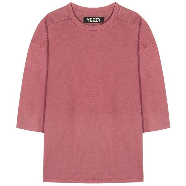 Yeezy Cotton Sweater (Season 1) (370 CAD) ❤ liked on Polyvore featuring tops, sweaters, red sweater, red top, cotton sweater and adidas originals