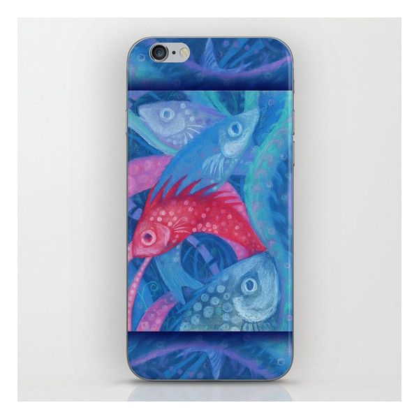 The Spawning Underwater Art Pink Blue Fish IPhone Skin 99 DKK