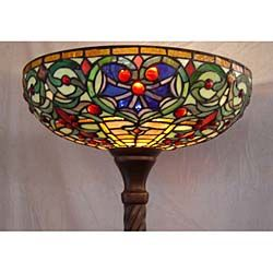 Tiffany style stained glass torchiere floor lamp staned tiffany style stained glass torchiere floor lamp aloadofball Choice Image