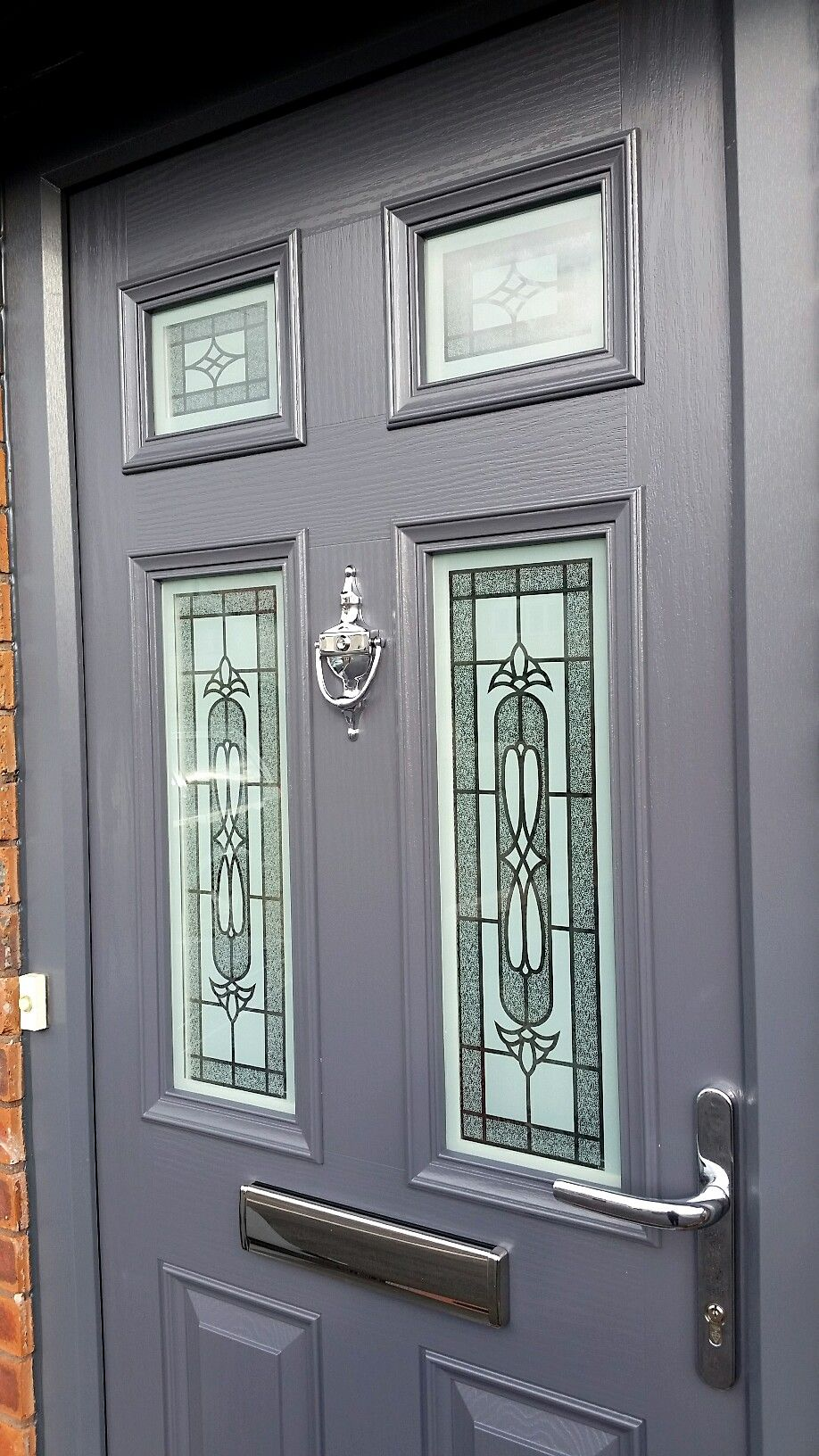 Silvaner glass design in a slate grey front door from www ...