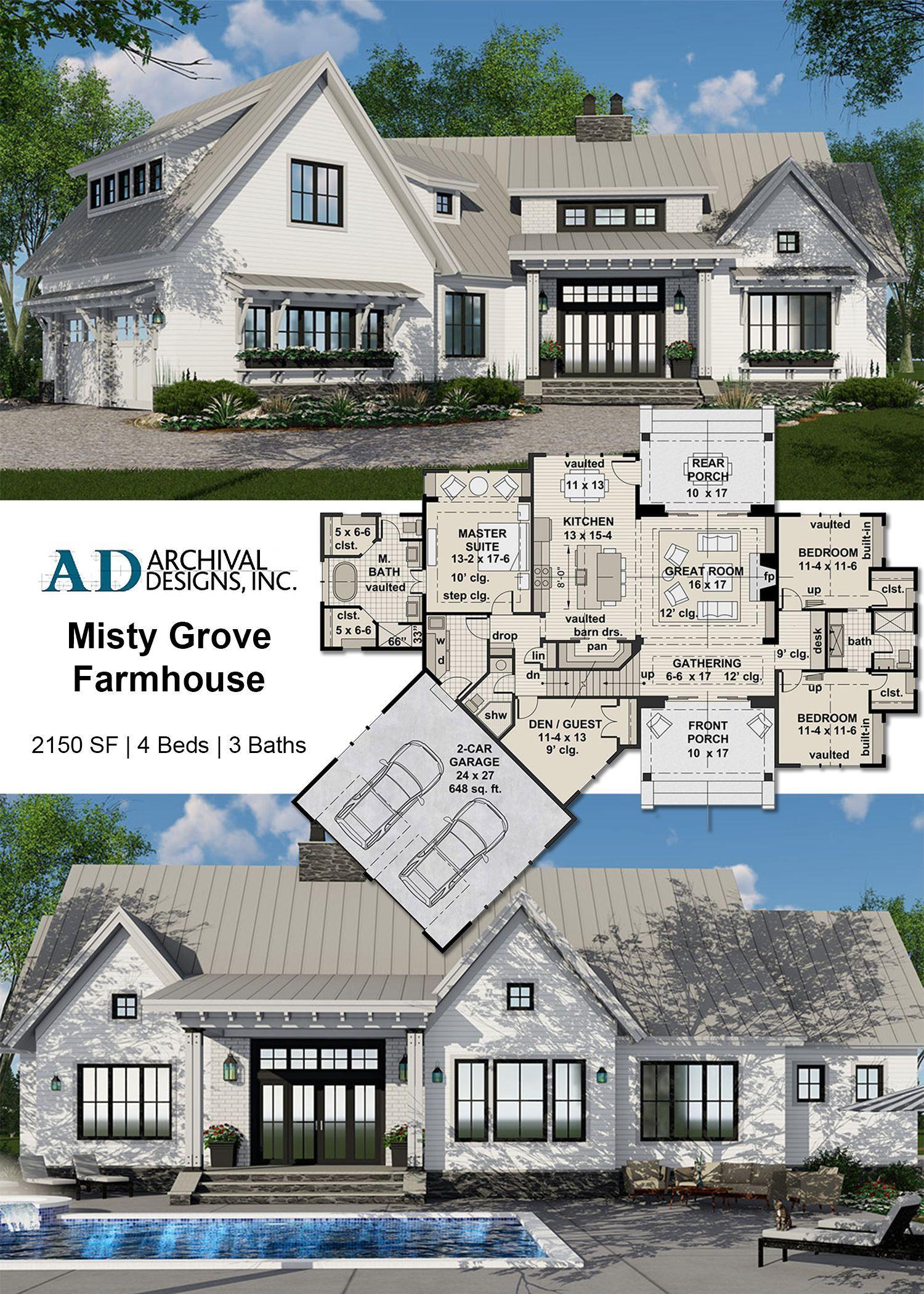 Fresh House Plans Farmhouse Misty Grove House Plan In 2020 House Plans Farmhouse Farmhouse Plans Modern Farmhouse Floorplan