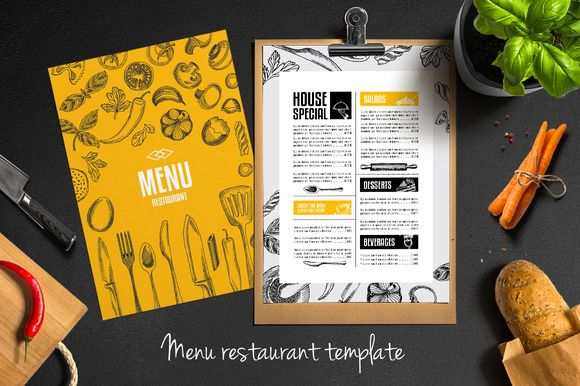 Food Menu Restaurant Flyer  By Barcelonashop On