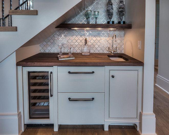 kitchen under stairs bar under stairs