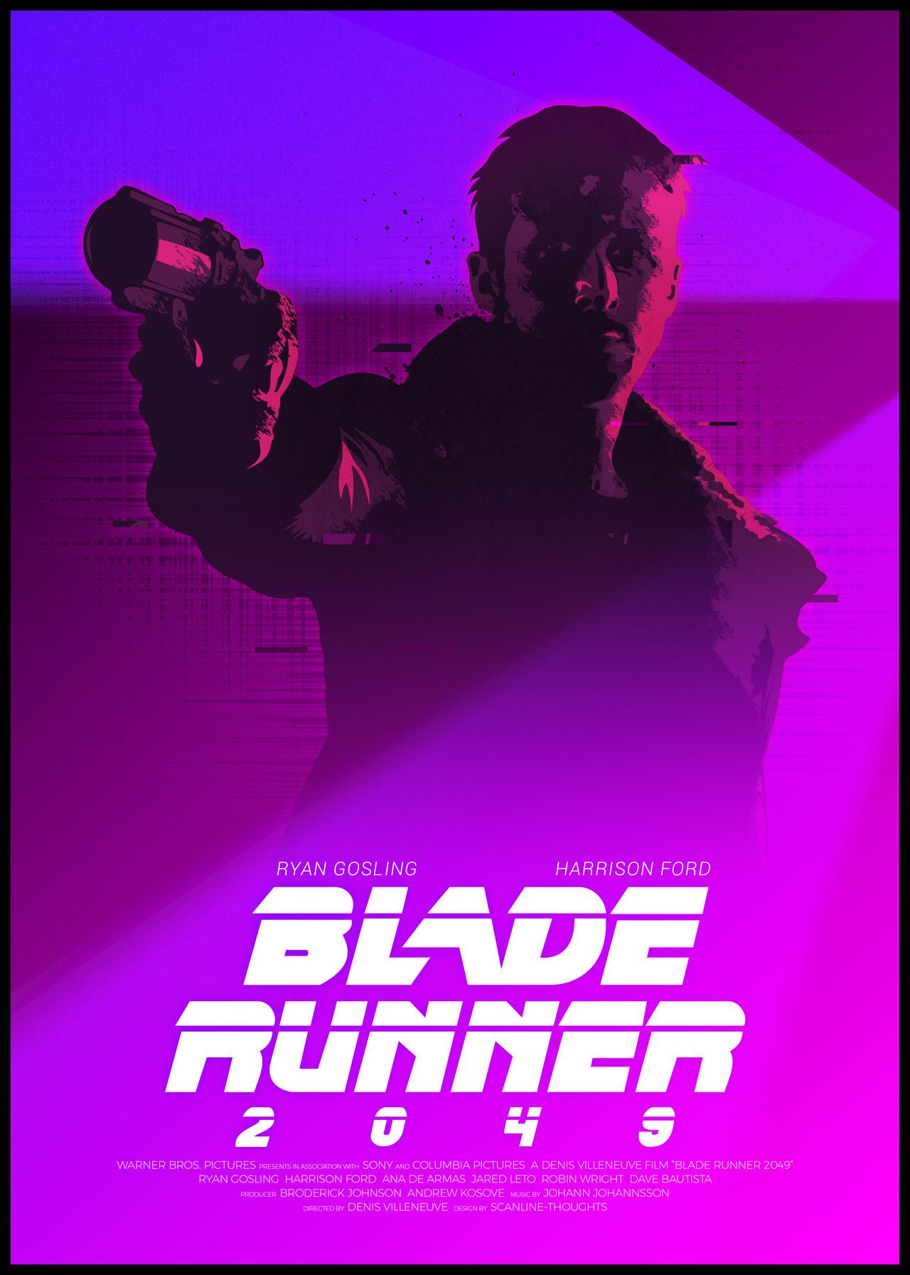 Harrison Ford Blade Runner Great New BW POSTER Gun