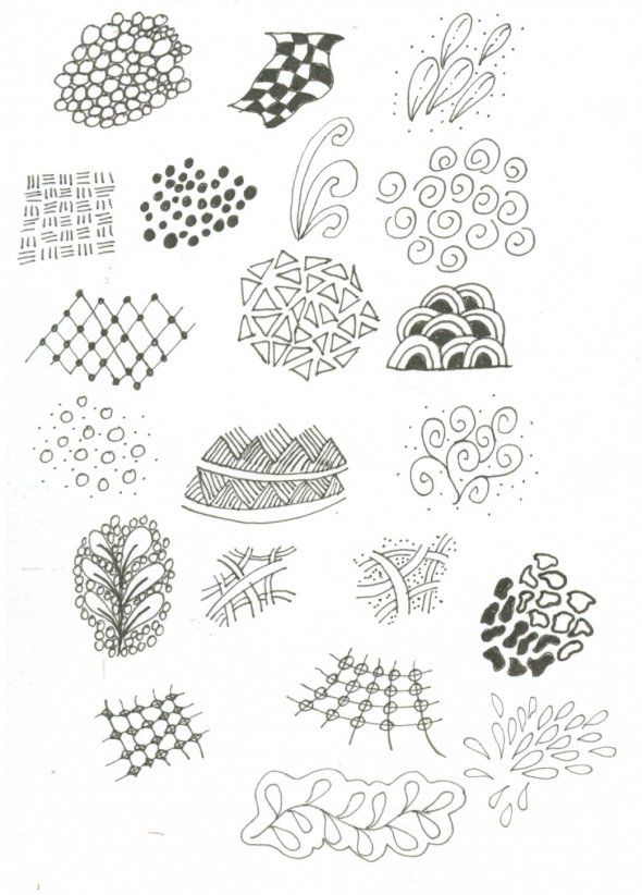 Zentangle Instructions This Picture Is Of Some Simple Tangles