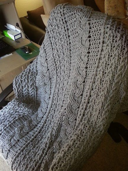 Celtic Cable Crochet Afghan