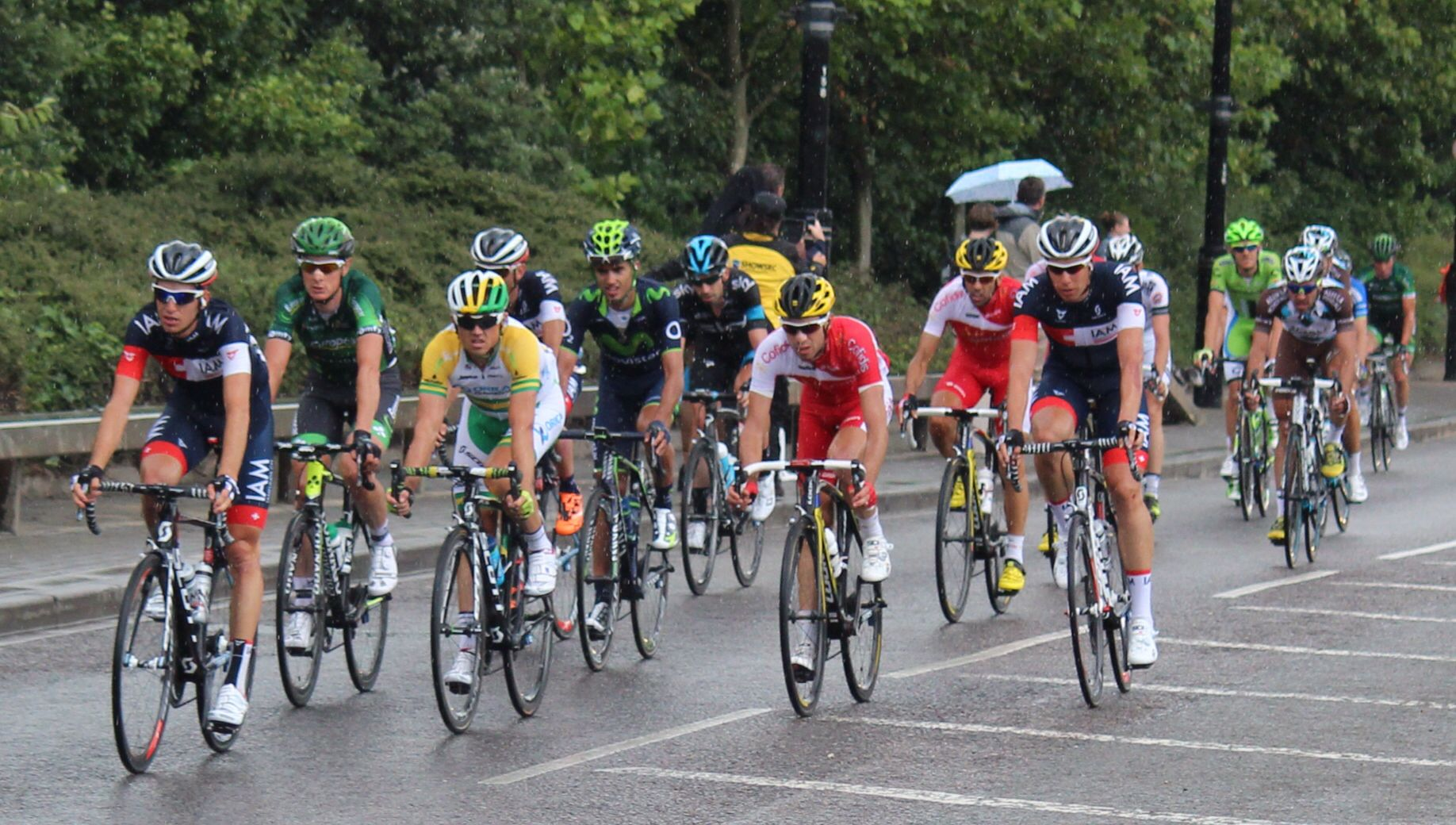 The Peloton also included the Australian road champion Simon Gerrens - Tour de France Stage 3 Cambridge to London