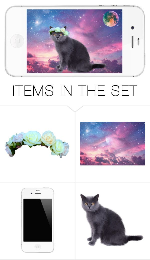 """Meows it going from another galaxy"" by victoria-pittore ❤ liked on Polyvore featuring art"