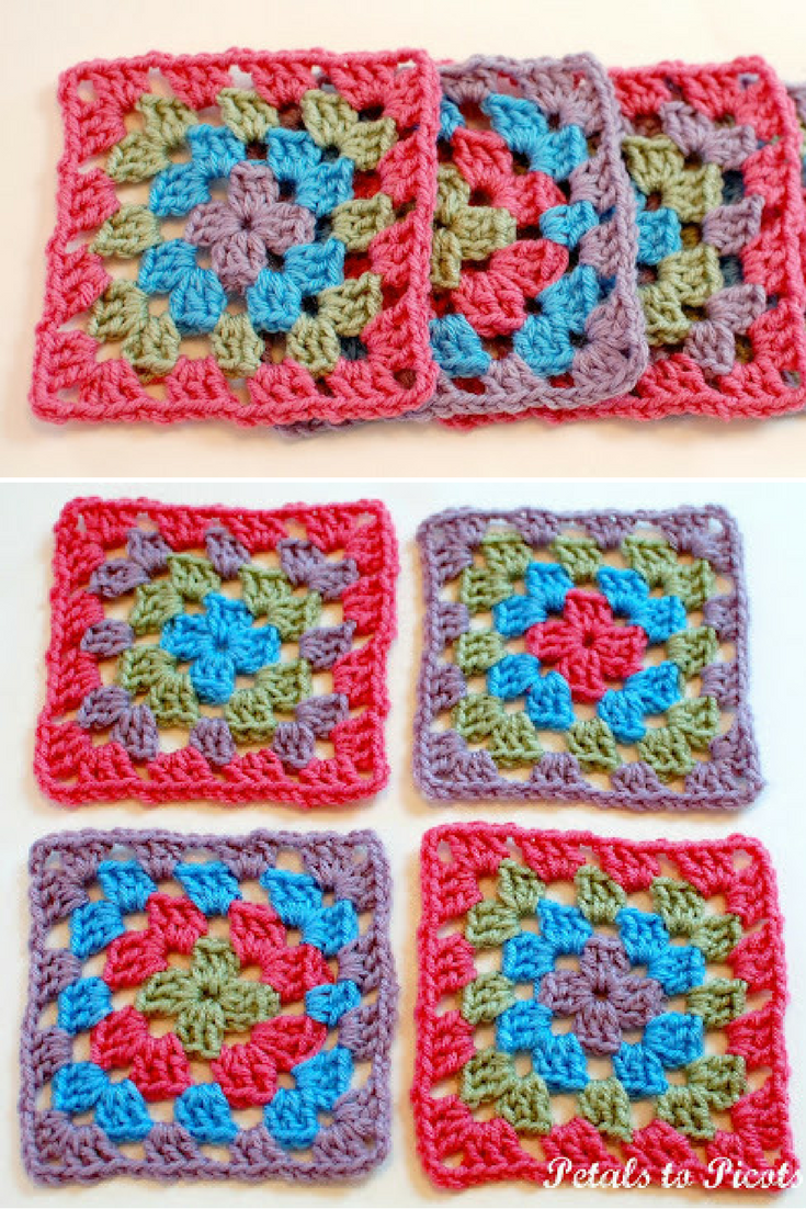 How To Crochet A Classic Granny Square Granny Square Pattern
