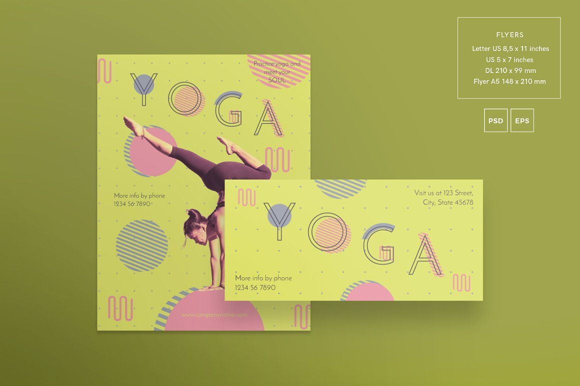 Template Formal Letter%0A Download flyer template   Yoga   Templates  Yoga flyer  Yoga flyer design