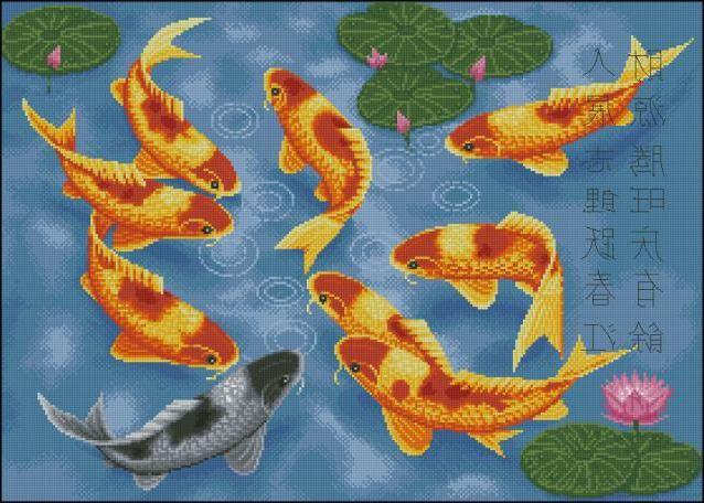 вышивка рыбок схемы скачать бесплатно