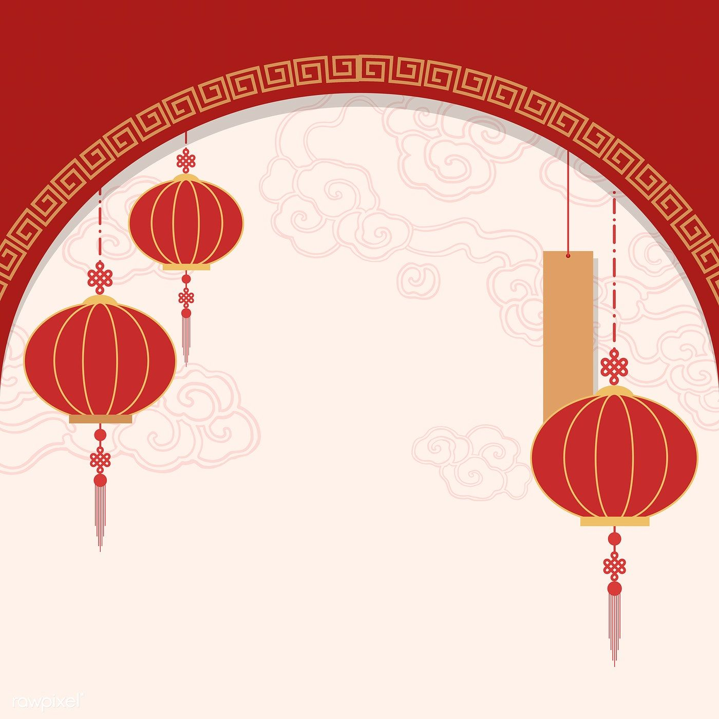 Download Premium Vector Of Chinese New Year 2019 Greeting Background 555247 Chinese Background Chinese New Year Background Chinese New Year Images