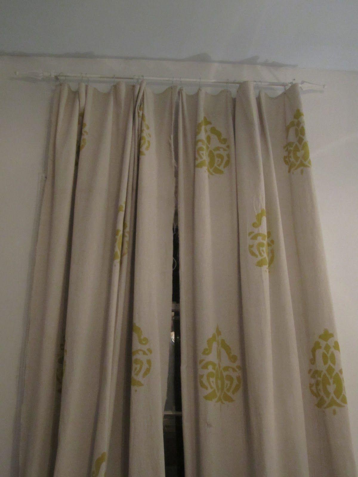 DIY Stencil Curtains! | Stencil diy, Stenciled curtains ...