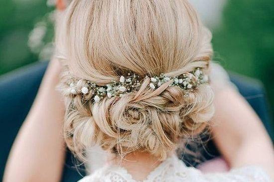 Une coiffure de mariée champêtre Coiffure mariage