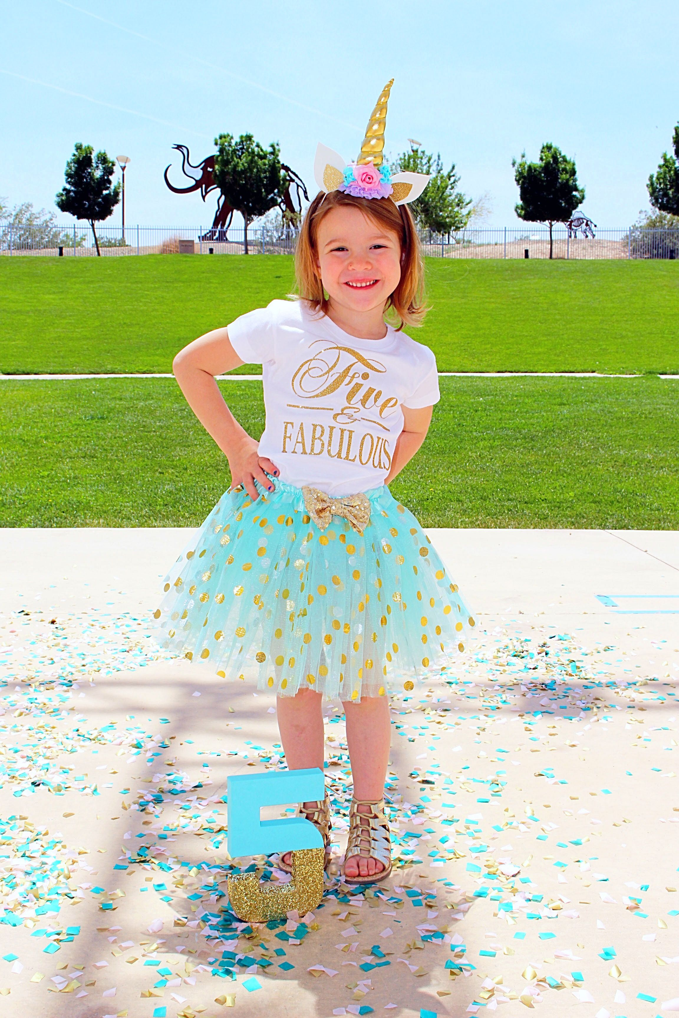 Adorable 5 year old birthday outfit five and fabulous