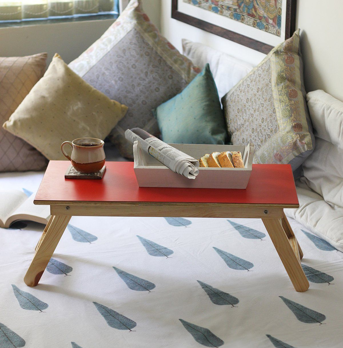 amazon com wooden foldable overbed breakfast serving table tray rh pinterest ca