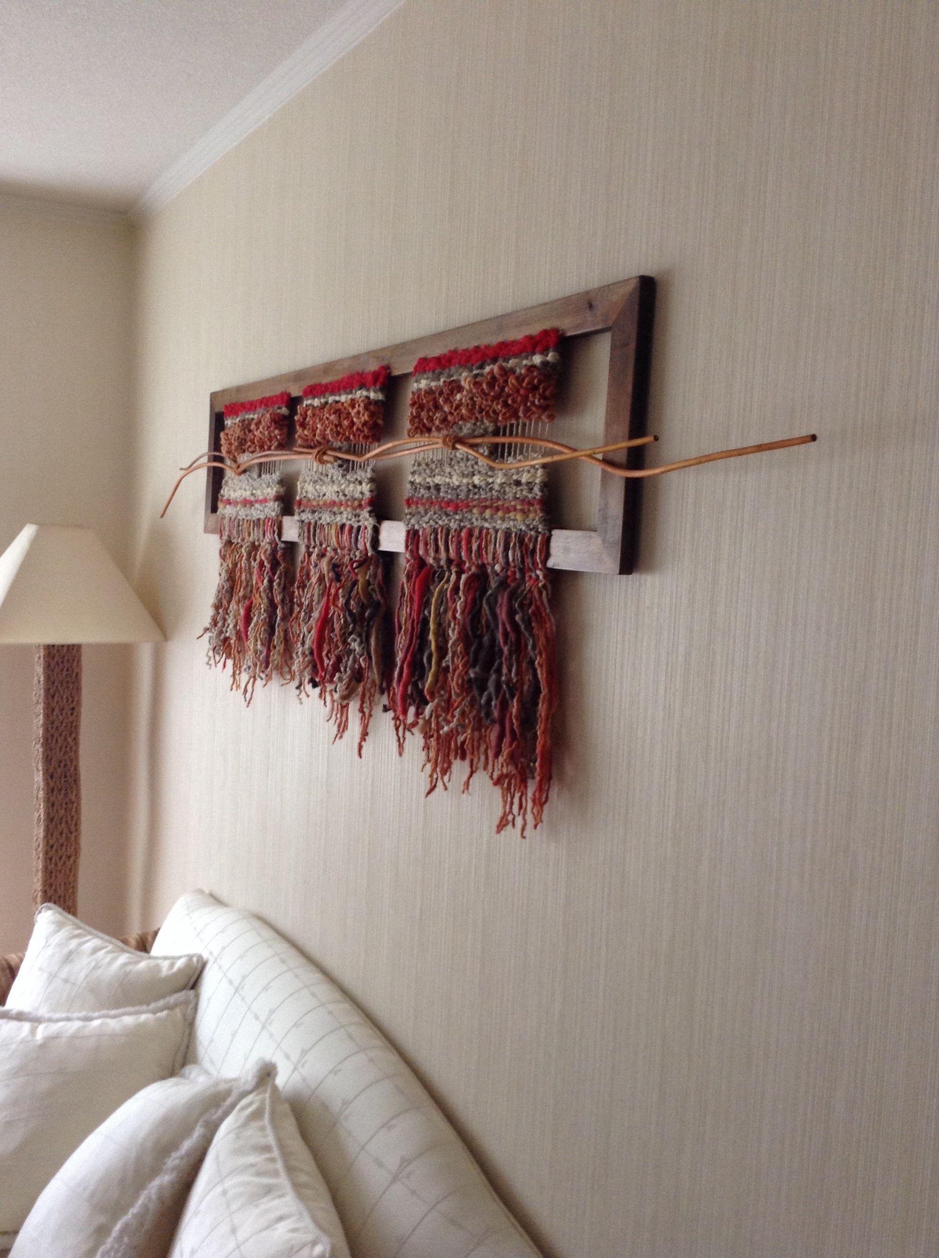 Telar enmarcado   telares decorativos   Pinterest   Telar, Tapices y ...