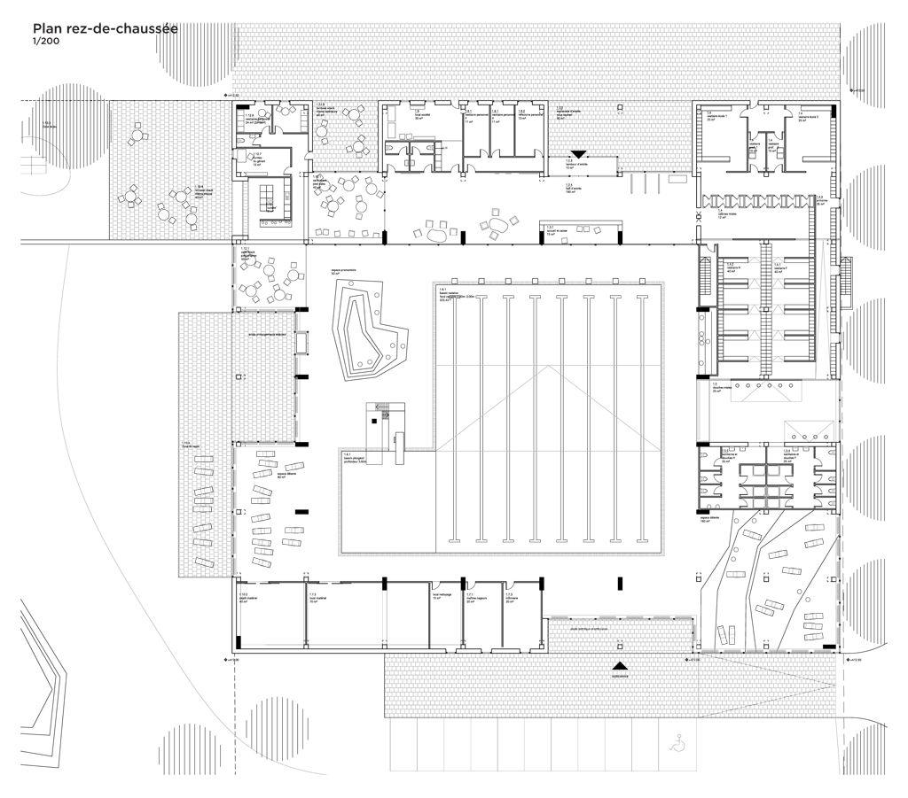 Piscine gland kunik de morsier architectes aquatic for Plan piscine