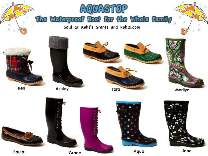 Aqua Stop Rain Boots sold at Kohls