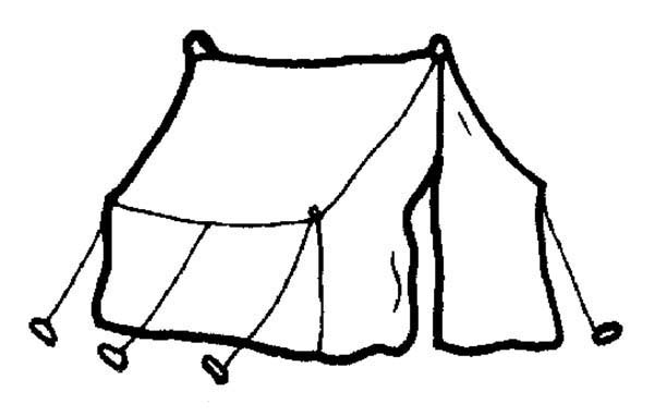 Camping Tent Coloring Page For Kids Coloring Sun Coloring Pages For Kids Camping Coloring Pages Coloring Pages