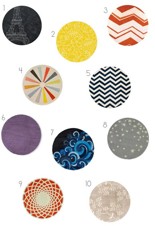 Think Outside The Rectangle Round Rugs