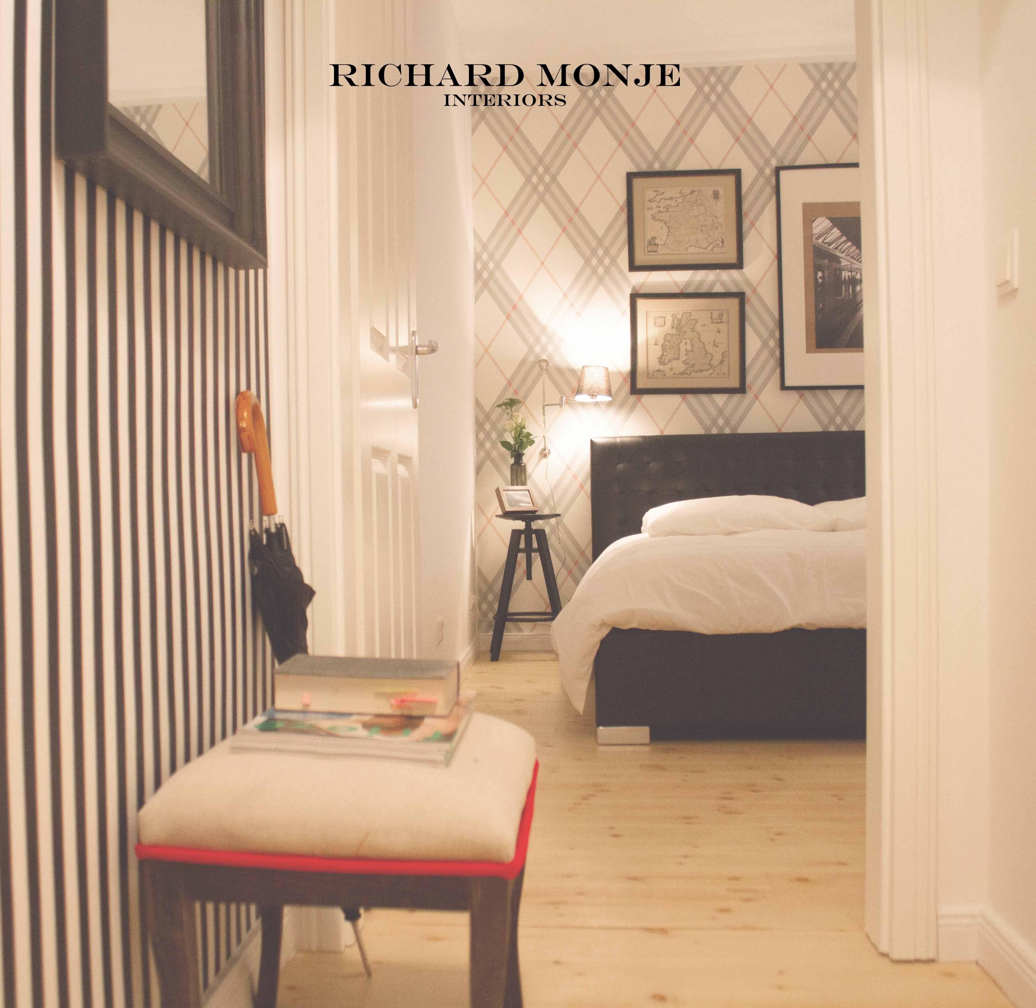 black white stripes wallpaper black leather bed umbrella red detail rh pinterest com au
