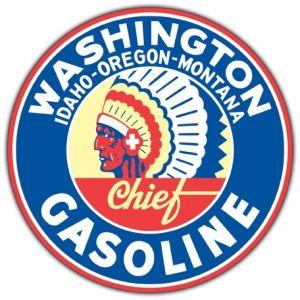 Washington Gasoline Steel Sign
