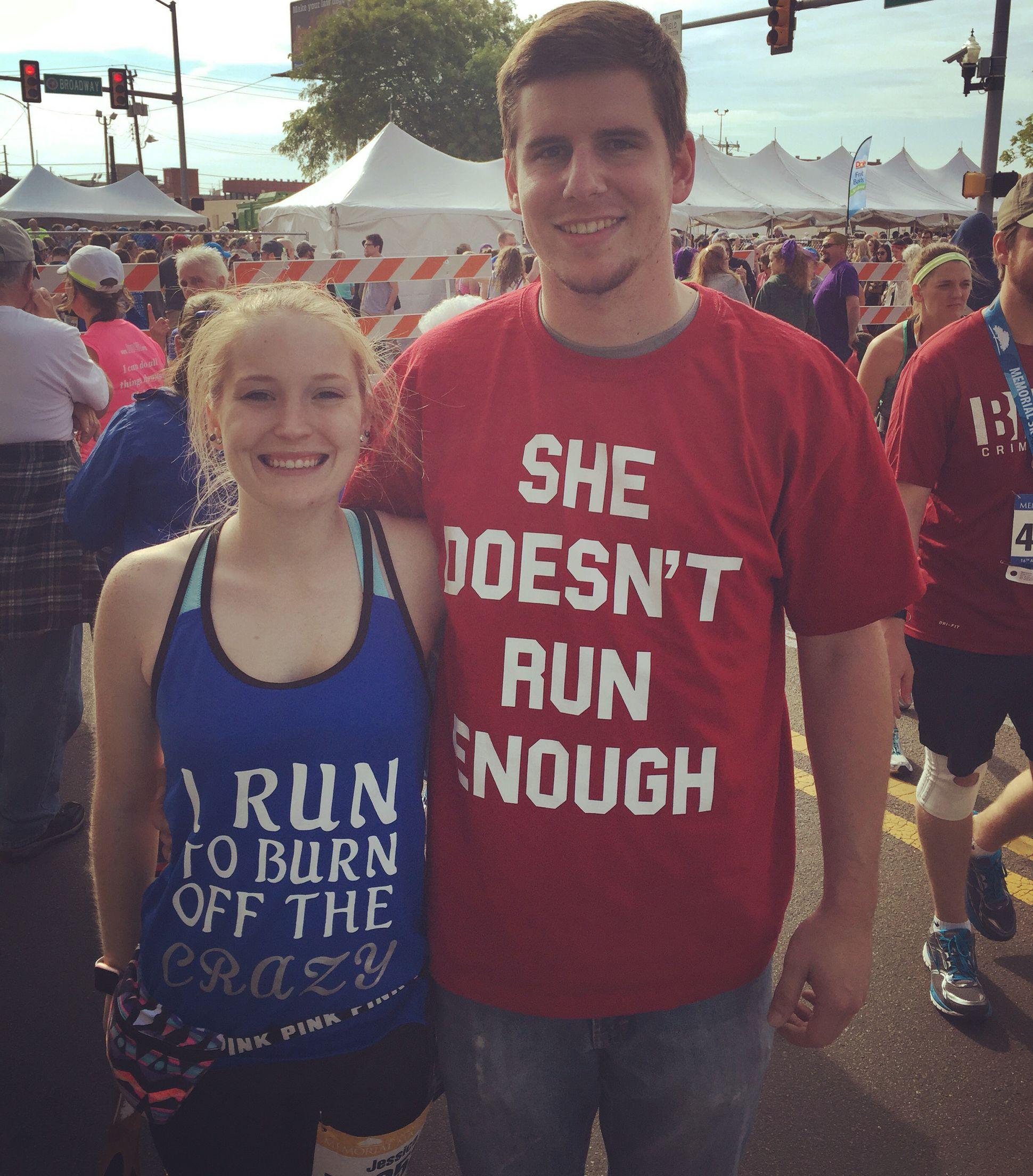 8f647dc16 Funny couple running shirt for half marathon | Him❤ | Funny running ...