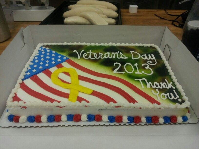 Veterans Day Cake I Made At Work With Images Patriotic Cake