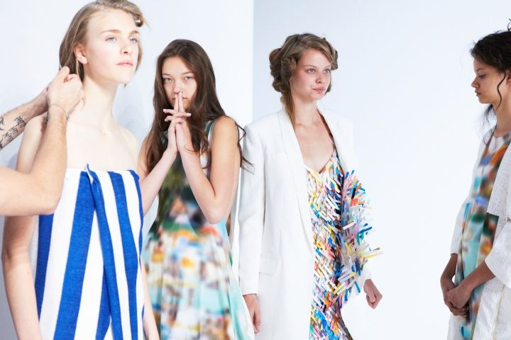 Backstage — Chalayan Spring 2014 — Photographed by Molly SJ Lowe