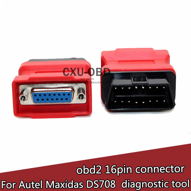 Original Autel MaxiDAS DS708 Scanner OBD2 OBD II 16 Pin Adapter Connector