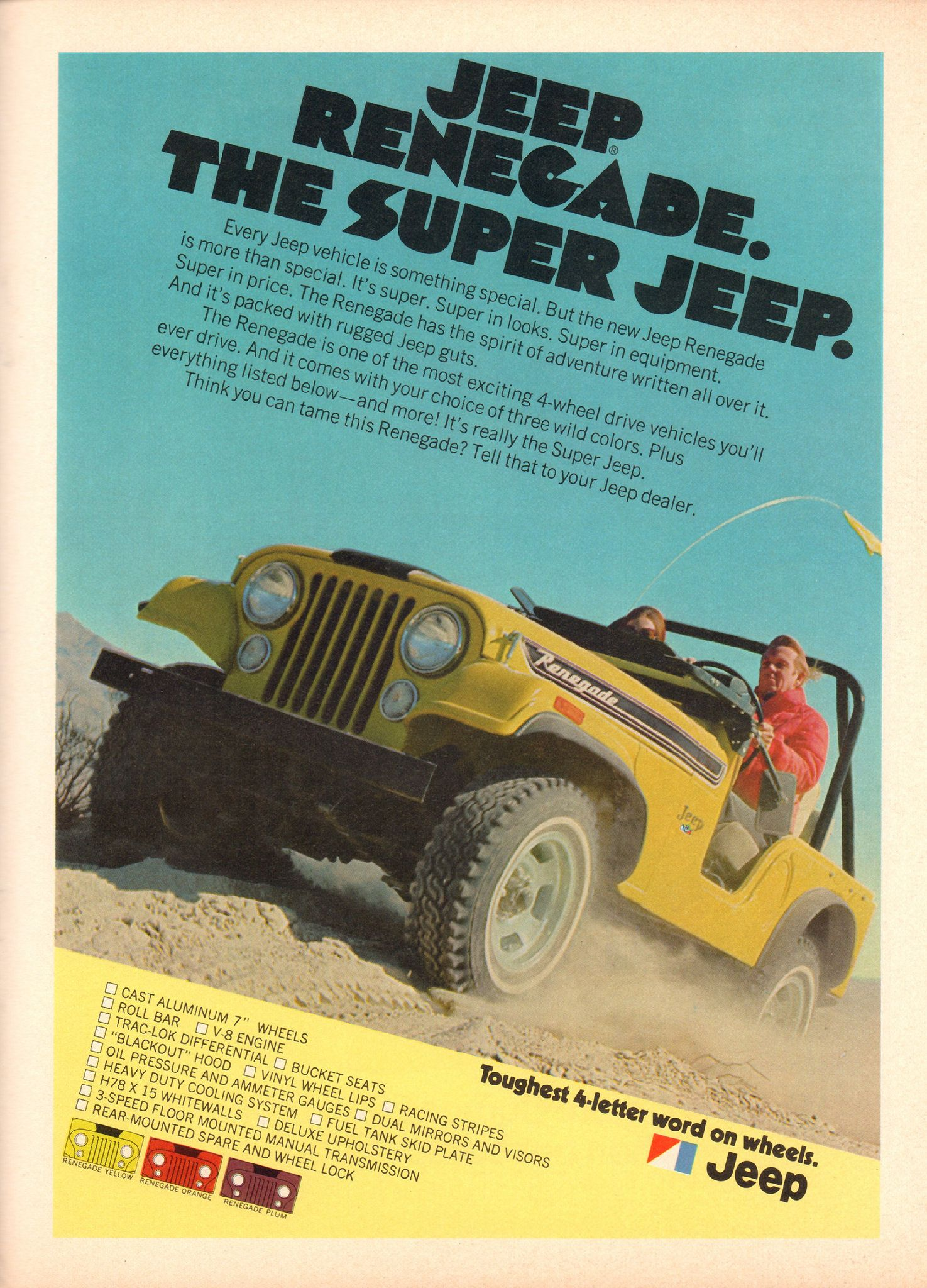 1972 Amc Jeep Renegade Advertisement Hot Rod Magazine May And Transmissions Https Flickr P 28xbqaj