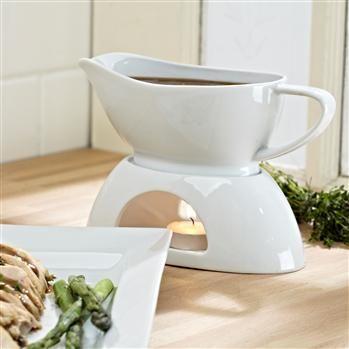 Ksp Aurora Porcelain Gravy Boat 22 X 10 X 13 Cm White | Kitchen Stuff Plus