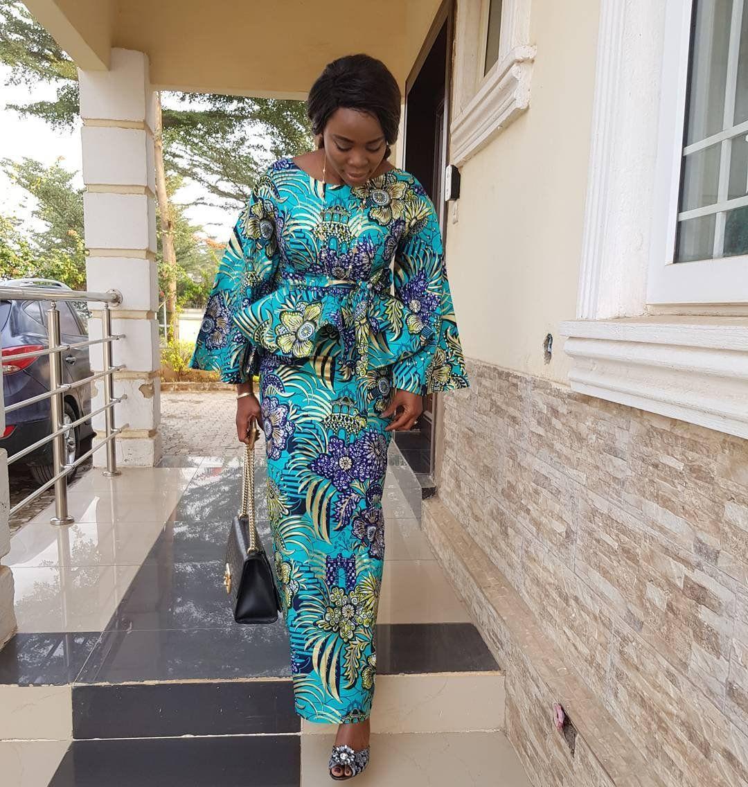 Ankara fabric can never go into extinction. Never! Nigerians keep ...