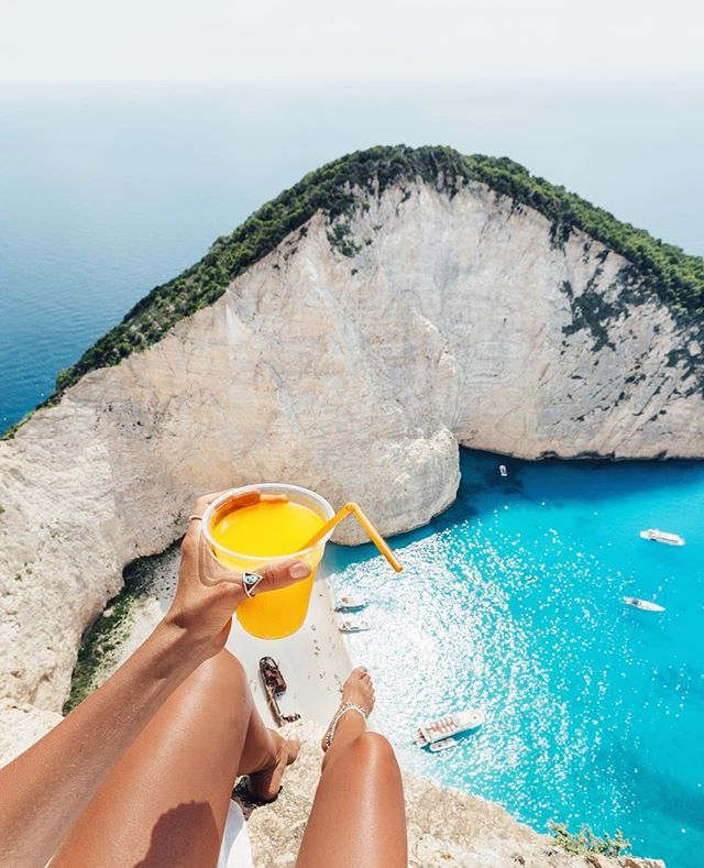 Most Beautiful Places Zakynthos: Navagio Beach....The Best Spot To Sit And Have A Fresh OJ