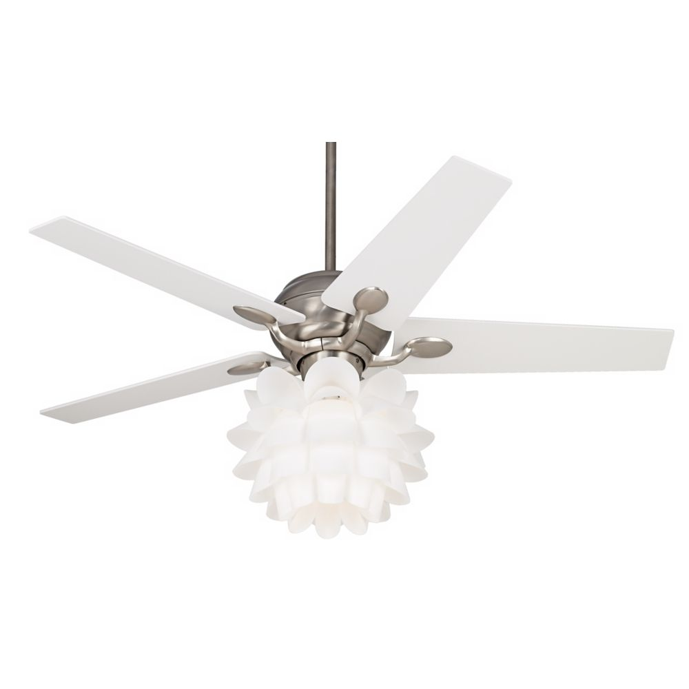 52 casa optima white flower ceiling fan style 86646 32431 k9774 rh in pinterest com