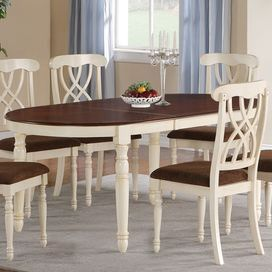 traditional dining table with dark cherry surface and turned legs rh pinterest com