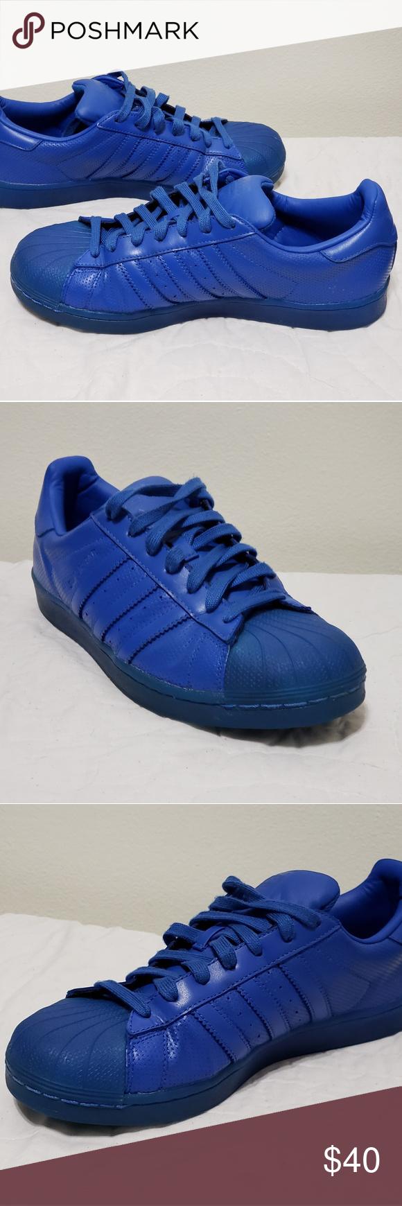 more photos 144ed 67e5f ADIDAS SUPERSTAR TRIPLE BLUE Adidas Superstars AdidaColor ...