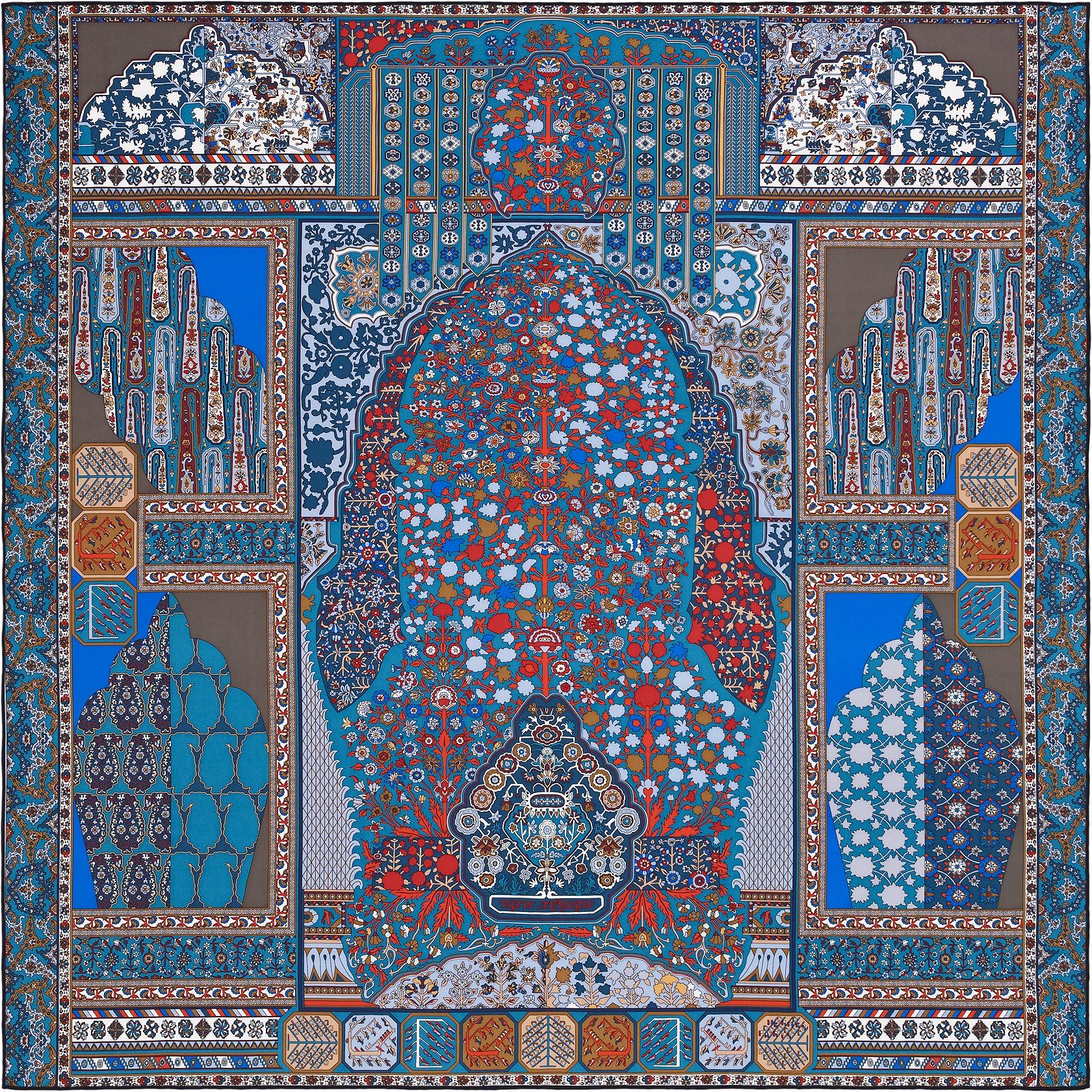 scarf 140 herm s tapis persans tapis persans hermes silk. Black Bedroom Furniture Sets. Home Design Ideas