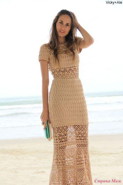 e1a5f68c7cd Ажурное длинное платье