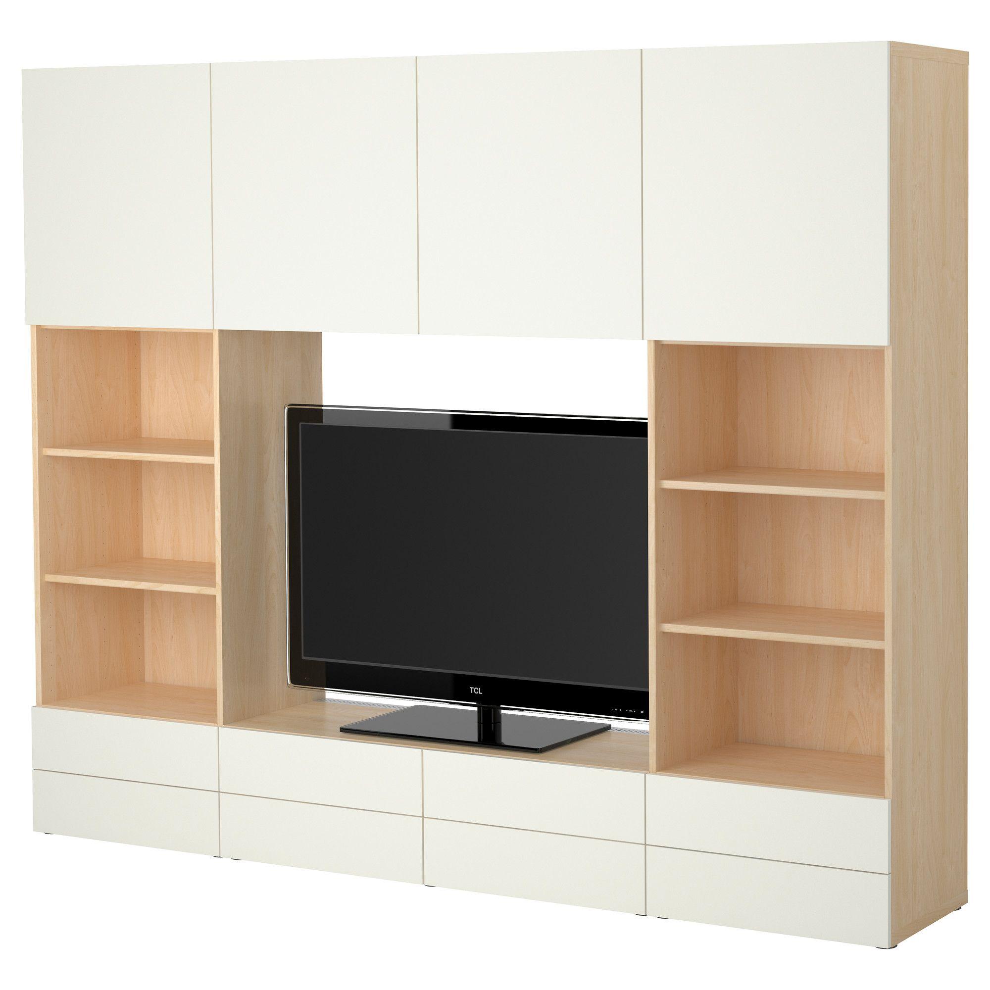 Best Tv Storage Combination  Birch Effectwhite  Ikea