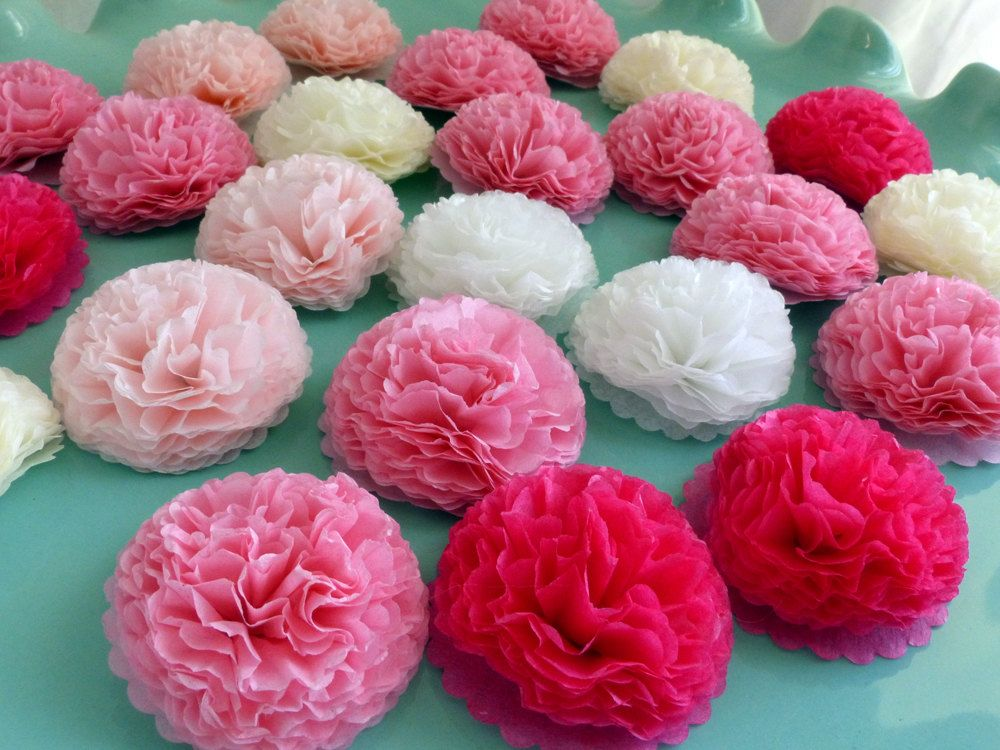 Pink button mums 1 inch tissue paper flowers wedding bridal shower pink button mums 1 inch tissue paper flowers wedding bridal shower baby shower decor mightylinksfo Image collections