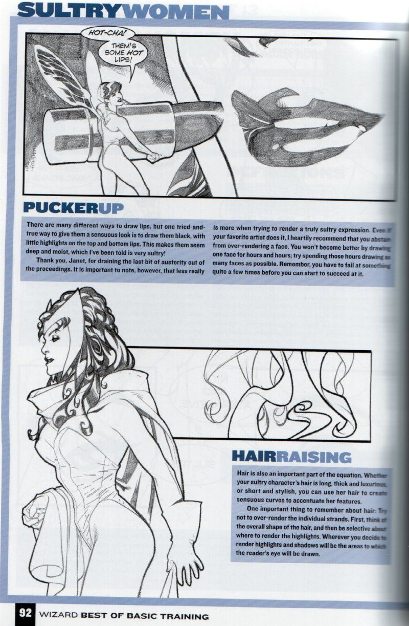 how to draw female comic characters (according to Wizard ...